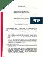 Maugham v Ireland Affidavit of J Maugham Sworn 4 4 17