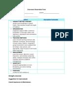 ClassroomObservationForm (2).doc