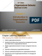 Chapter 1- Introduction to OB