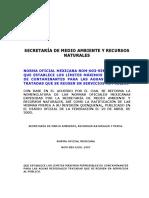 NOM-003-SEMARNAT-1997 - Establece los Lim Max permisibles de contaminantes para aguas residuales tratadas que se reusen en serv Publico.pdf