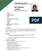 Curriculum Javier Saldaña