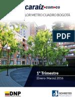 Valor Metro Cuadrado en Bogota Enero Marzo 2016