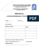 """PRÁCTICA NO.10 FACTOR DE COMPRESIBILIDAD """"Z"""" POR CORRELACIONES."""