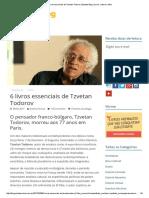 6 Livros Essenciais de Tzvetan Todorov _ Estante Blog _ Livros, Cultura e Afins