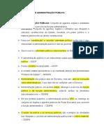 Dicas de Direito Administrativo - Conceitos Da Administração Pública