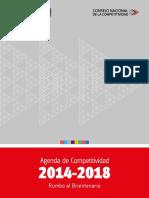 Agenda de Competitividad 2014-2018_rumbo_ Al_Bicentenario