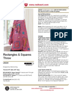 Free Crochet Pattern - Rectangles & Squares Throw LW2239