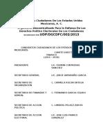 Candidatos Ciudadanos de Los Estados Unidos Mexicano1