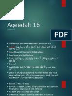 Aqeedah 16
