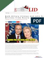 Clinton-Podesta Russian Connections- Both Hillary Clinton And John Podesta Made Millions From Russia, Putin.pdf