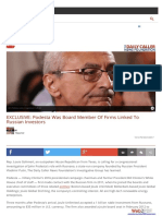 Clinton-Podesta Russian Connections- Podesta Was Board Member Of Firms Linked To Russian Investors.pdf