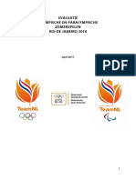 Evaluatie Rio 2016 - Eindrapportage