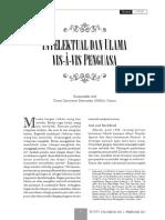 Intelektual and Ulama Vis-A-Vis Penguasa Syamsudin Arif
