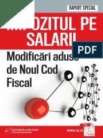 Impozitul pe salarii - modificari noul cod fiscal