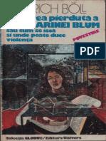 Heinrich Boll-Onoarea Pierduta a Katharinei Blum