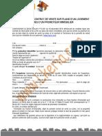 Modele Type de Contrat de Vente Sur Plans