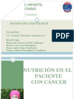 Evaluación Nutricional Del Niño Con Cáncer