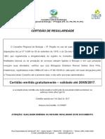 CERTIDÃO REGULARIDADE