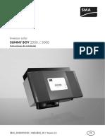 Sma Sb2500 3000 Manual Es