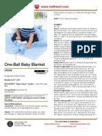 Free Crochet Pattern - One-Ball Baby Blanket LW2309