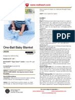 Free Crochet Pattern - One-Ball Baby Blanket LW2309