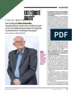 Marcel Gauchet Macron. Son Projet c'Est Plutôt l'Équité Que l'Égalité - L'Obs 2017 04 06