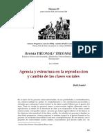 Agencia y estructura en la reproduccion y cambio de las clases sociales-Sautu