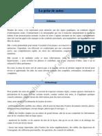 Methodologie - Prise de Notes