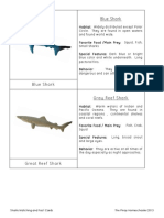 Shark Matching and Fact Cards