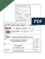 T10107 YR02 P0ZEN 140001_Rev.0_Electrical System Design Criteria