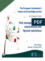 European Commission JRC Report on Neonicotinoids -  170111 Neonic Bxl_jrc