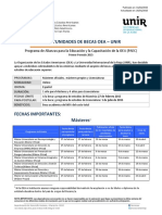 Convocatoria OEA UNIR 2015 1