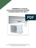 Procedimiento y Plan de Mantenimiento Tipo Split de Aire Acondicionado