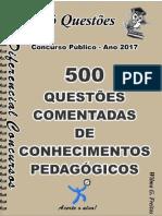 504_CONHECIMENTOS PEDAGÓGICOS- 500 Questões Comentadas