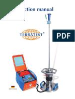 Manual Terratest 3000