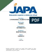 Informatica (Uapa) Lya Massieell Alberto Rosario