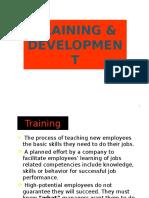 Chapter 11 -Training & Development