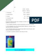 Formulas Aseo