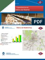Avances Tecnologicos Metro de Madrid
