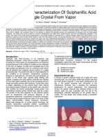 PDF - (Gharde) Growth and Characterization of Sulphanillic Acid Single Crystal From Vapor