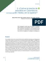 Cual Es La Brecha de Calidad Educativa en Colombia en Educacion Media y Superior