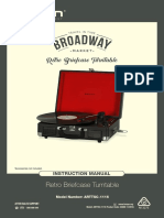 Retro Briefcase Turntable Instruction Manual