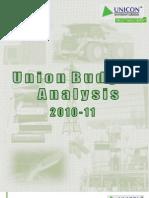 UnionBudgetAnalysis2010-11