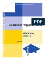 High School Course Offerings Fall 2016 to Post
