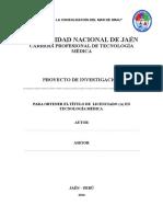 Esquema de Proyecto Para El Curso de Metodologia de La Investigacion Cientifica