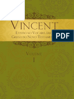Vincent - Vol. 01 - Estudo No Vocabulário Grego No Novo Testamento