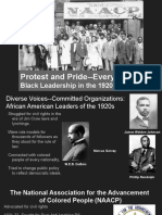 protest and pride black organizations in the 1920s