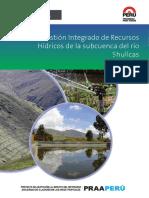 Plan de Gestion Integrado de Recursos Hidricos de La Subcuenca Del Rio Shullcas
