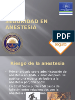 Seguridad en Anestesia