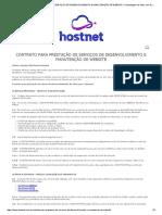 Contrato Para Prestação de Serviços de Desenvolvimento e Manutenção de Website « Hospedagem de Sites Com Domínio Grátis – Hostnet